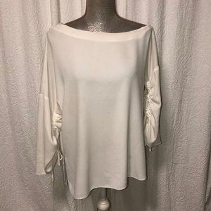 Tibi cream blouse, size M